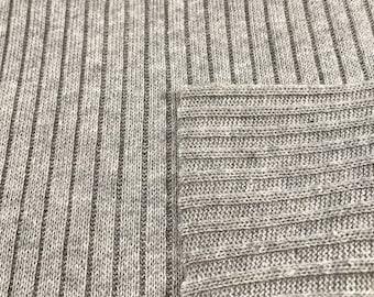 100% Cotton Sweater Rib Knit