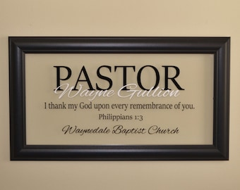 Pastor Gift Pastor Appreciation Wall Decor Retirement Gift Minister Gift  Personalized Pastor Gift Religious Art Christian Wall Decor
