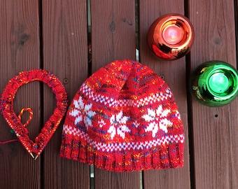 Christmasy Snowflake Hat