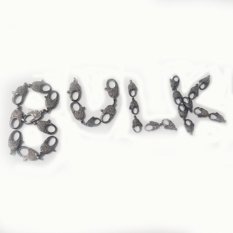 925 Sterling Silver Pave Diamond Handmade LobsterClasp CLSP-0007