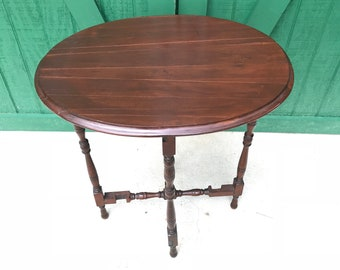 Antique Oval Flip Top Table, Gate Leg Table, Hand Crafted Table,Circa  1800s,Collectors Piece,Mortise U0026 Tenon,Musium Quality Craftsmanship