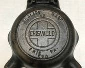 Griswold cast iron ash tray with vintage matches