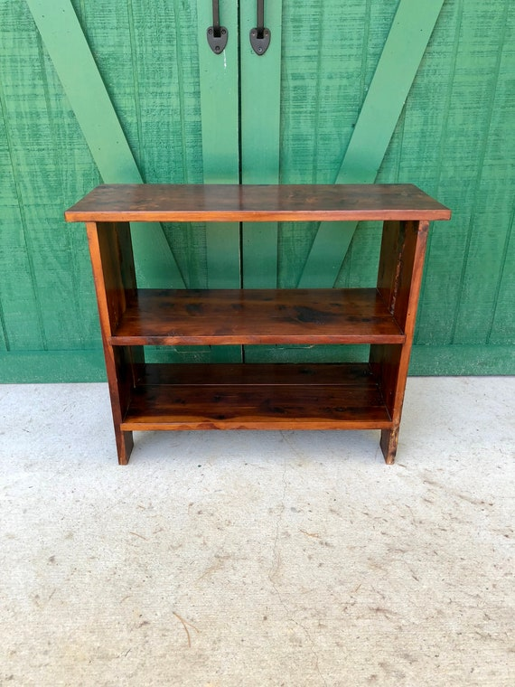 Pine Bookshelf Vintage Hand Crafted Colonial
