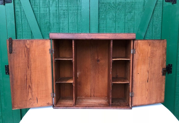image 0 - Antique Pine Cupboard Desk Cupboard Working Key Etsy