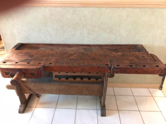 Remarkable Antique Wood Working Bench Kitchen Island Free Standing Bar Gmtry Best Dining Table And Chair Ideas Images Gmtryco