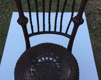 Antique Brown wicker Chair