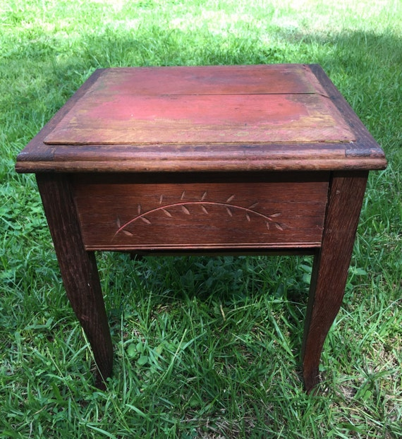 Awesome Antique Shoe Shine Box Stool Storage Box Wood Box Primitive Box Caraccident5 Cool Chair Designs And Ideas Caraccident5Info