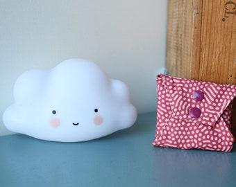 Washable sanitary towel in cotton and bamboo Oeko-tex, gray sponge