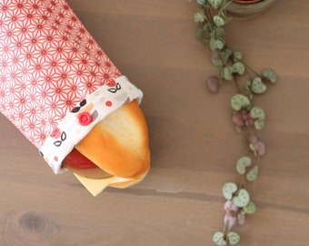 Sandwich bag made of oekotex® coated fabric, cotton lined