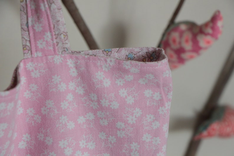 Seventies vintage series foldable and reversible shopping bag