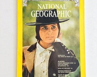 National Geographic Magazine, June 1975 • Andalusia, Spain, Alaska, Wilderness, Travel, Suez, Egypt, Lobsters, Mercury, Venus • Vintage