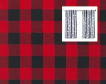 Red Black Plaid Buck Curtains Buffalo Red Black Deer Curtain Panels  Woodland Buffalo Check Nursery Woodland Buffalo Red Black Plaid Valance