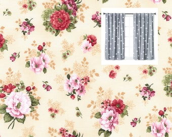 Red Floral Curtains Daisy Curtain Panels Nursery Valance Flowers Kitchen