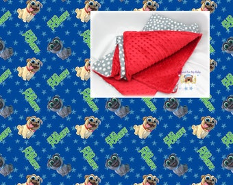 Disney Blanket Puppy Dog Pals Nursery Bedding Cotton Minky Etsy