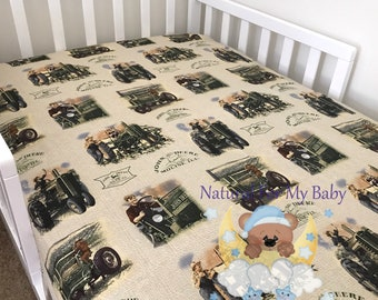 Tractor Crib Sheet Etsy