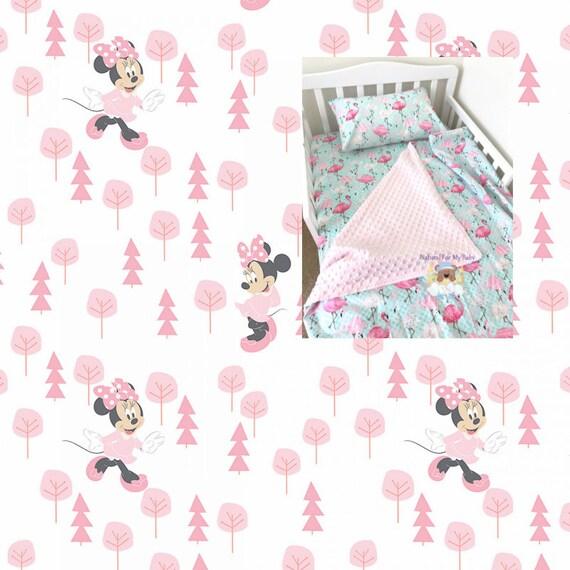 Disney Minnie Mouse Toddler Bedding Set Blanket / Comforter Sheet Case Twin  or Crib Size YOU PICK
