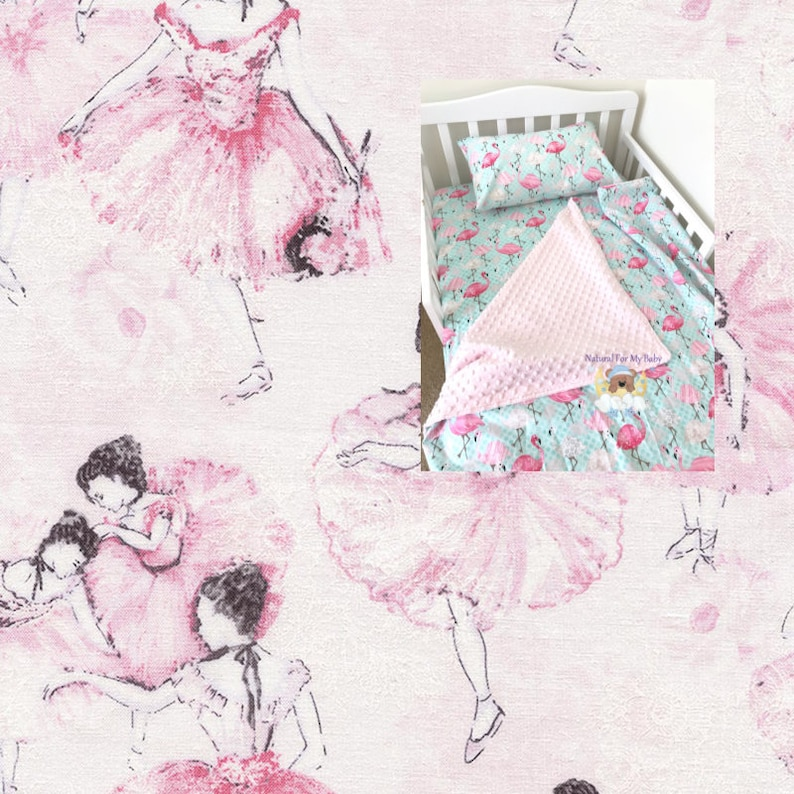 Ballerina Toddler Bedding Set Girl Toddler Blanket Ballerina Fitted Sheet Pillow Case 100 Cotton Ballet Toddler Bedding Twin