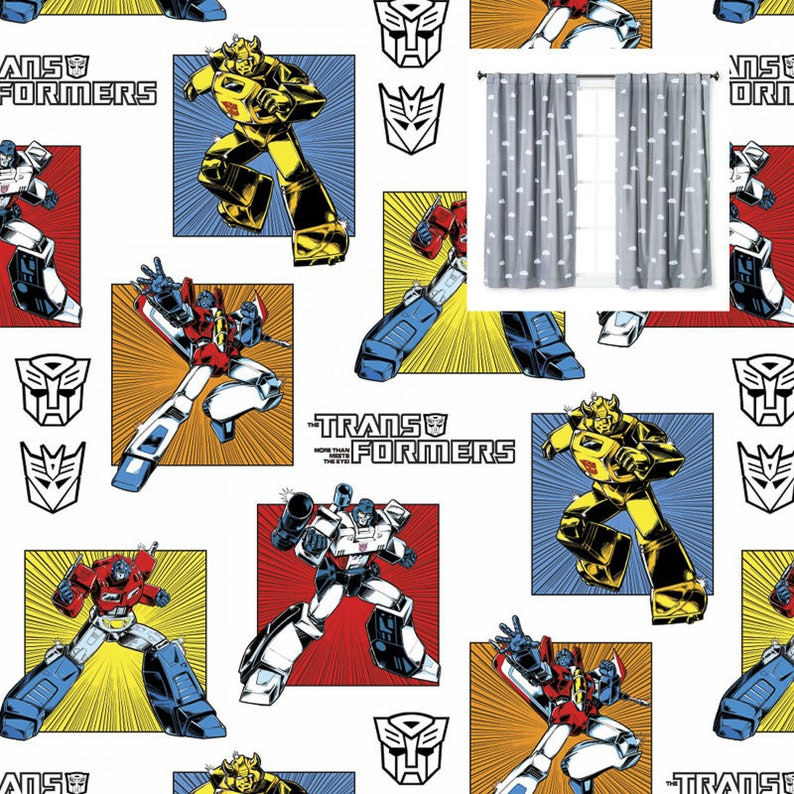 Transformers Lampshade Cotton Fabric Lampshade Material Bumblebee Heroes