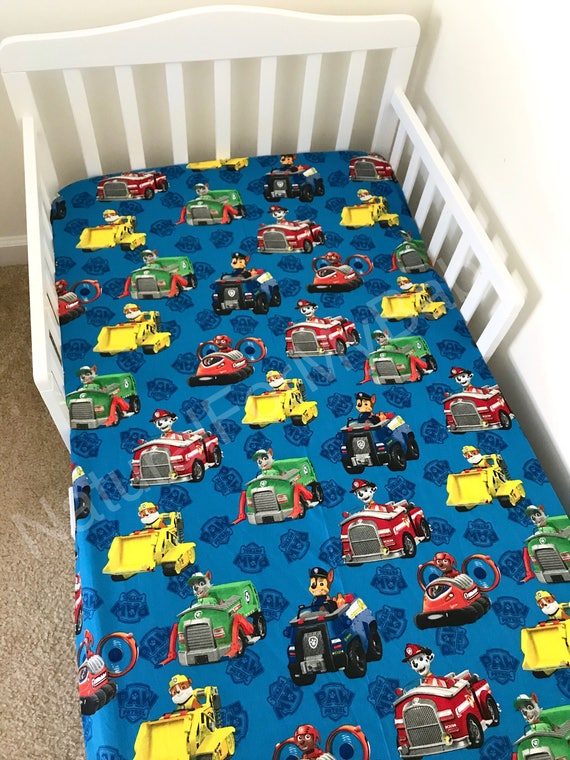 Blue Paw Patrol Fitted Crib Sheet Paw Patrol Nursery ...