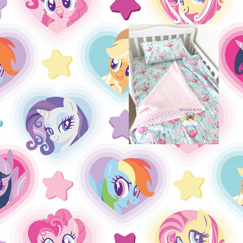 outlet store bd8ce 77549 My Little Pony Toddler Girl Bedding Set Disney Pony Toddler Bedding Blanket  Comforter Fitted Flat Sheet Pillow Case Twin Crib Bedding Set