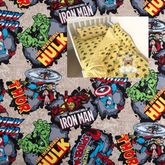 Marvel Toddler Bedding Set Spider Man Iron Man Toddler Bedding Etsy