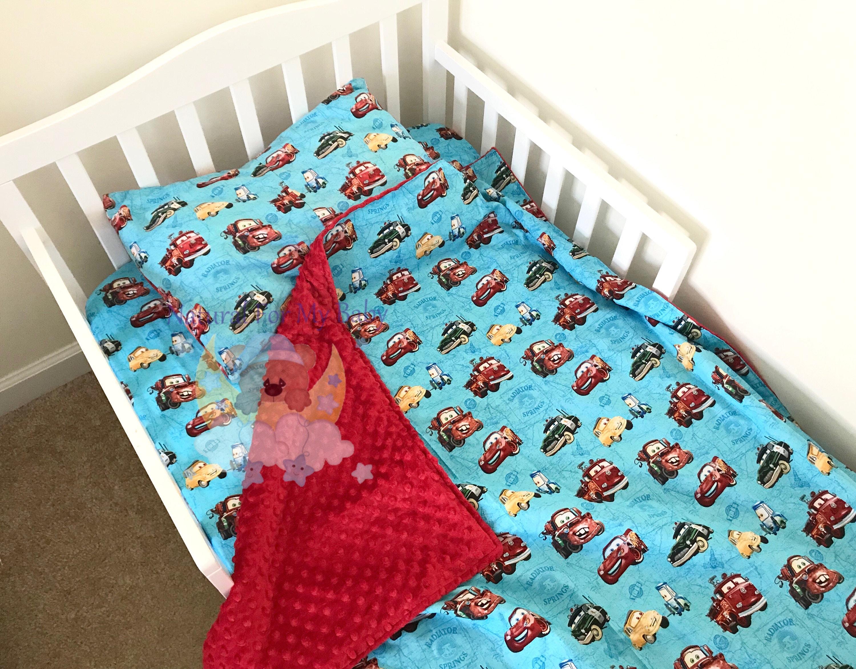 Cars Toddler Boy Bedding Set Disney Toddler Bedding Blanket Etsy