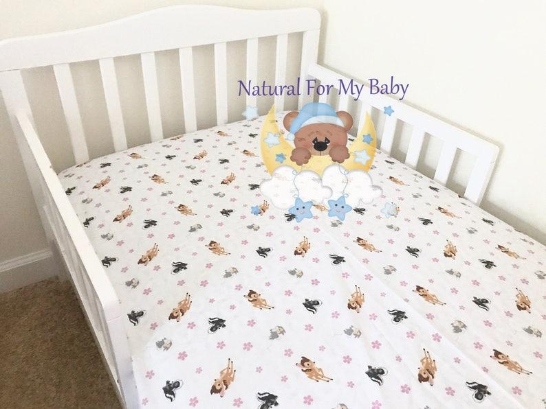 11e281c60bb40 Bambi Fitted Crib Sheet Bambi Nursery Bambi Toddler Bedding Sheet Flat  Sheet Changing Pad Cover Mini Crib Twin Full Queen Fitted Sheet