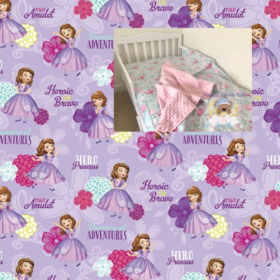 Disney Toddler Bedding Set Sofia The First Bedding Princess Blanket Girl Toddler Bedding Ensemble Fitted Sheet Pillow Case 100 Cotton Twin