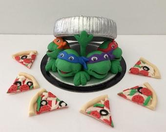 Ninja Turtles Fondant Cake Topper