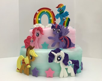 My Little Pony Inspired Fondant Cake Topper