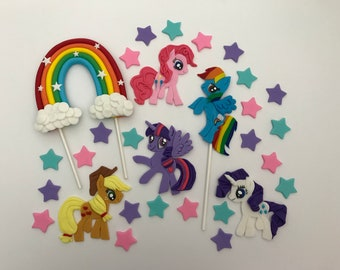 My Little Pony Cake Topper Party Birthday Decorations
