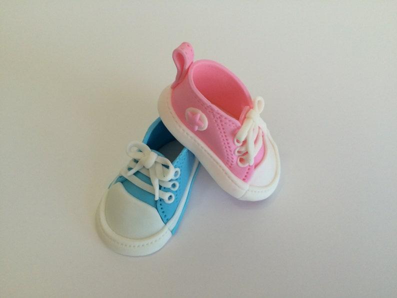 c3ebc8176048db Fondant Edible Baby Converse Shoes Cake Topper