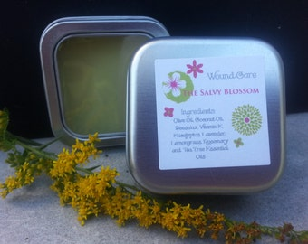 All Natural Bacitracin, Cut Salve or Healing Ointment, Petroleum Free Ointment, Antiseptic