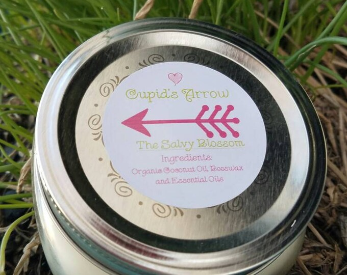 Featured listing image: Candle, Cupid's Arrow Valentine's Day Candle, Lavender Candle, Organic Coconut Oil Candles, Nontoxic, Chemical and Dye Free