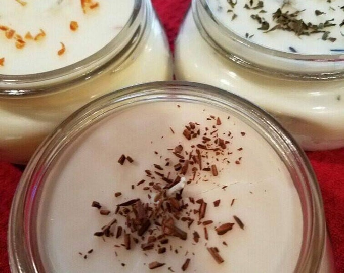Featured listing image: Holiday Special, 3 Pack of Organic Coconut Oil Candles, All Natural, Nontoxic, Paraffin,Petroleum, Chemical and Dye Free, 8oz Mason Jars