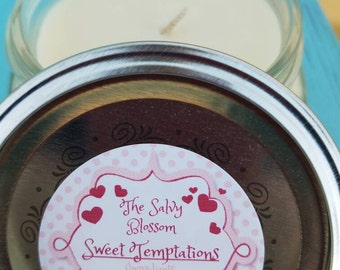 Candle, Sweet Temptations Valentine's Day Candle, Citrus Candle, Organic Coconut Oil Candles, Nontoxic, Chemical and Dye Free