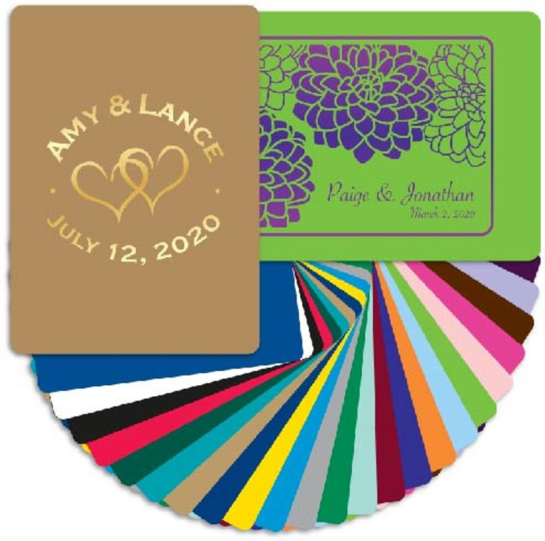 Custom Personalized Playing Cards Wedding And Birthday