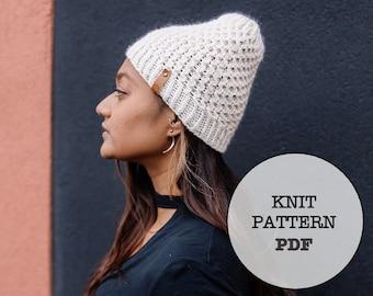 Knit Pattern / Silver Beanie / 7 Metals of Antiquity / Knit Picks Gloss DK / Whiteowlcrochetco / Hat Pattern / Beanie / Winter / Knit