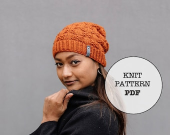 Knit Pattern / Copper Beanie / 7 Metals of Antiquity / Knit Picks Gloss DK / Whiteowlcrochetco / Hat Pattern / Beanie / Winter / Knit
