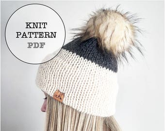 Knit Pattern / Combo Pack Knitting Pattern / Double Brim Knitting Pattern / Whiteowlcrochetco Deluxe Double Brim Combo Pack