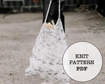 Knit Pattern / Quarry Triangle Bag / Knit Bag / Knitting Pattern / Quarry Bag / Whiteowlcrochetco / White Owl Crochet / Knit Picks Brava