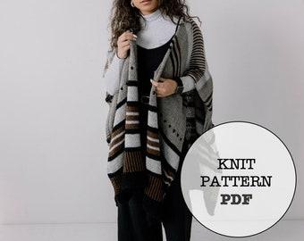 Knit Pattern / Terrain Poncho Wrap / Knit Picks DK Swish / Whiteowlcrochetco / Knitting / Wrap / Poncho / Terrain Wrap / Easy Knitting