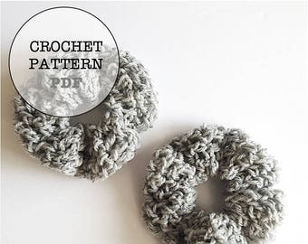 Crochet Pattern / Crochet Scrunchie Pattern / Scrunchie pattern / Whiteowlcrochetco Scrunchie / Topknot Scrunchie