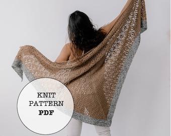 Knit Pattern / Trestle Shawl / Lace Shawl / Aran Weight / Whiteowlcrochetco / Knitting / Shawl / Knit Shawl / Knit Picks