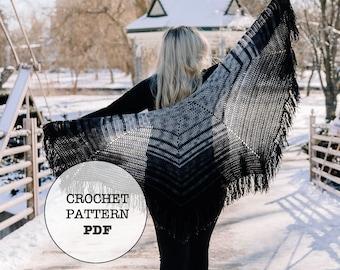 Crochet Pattern / Feisty Fade Shawl / Crochet Shawl / Fade Shawl / Whiteowlcrochetco / White Owl Crochet Co / Feisty Fibres Yarn