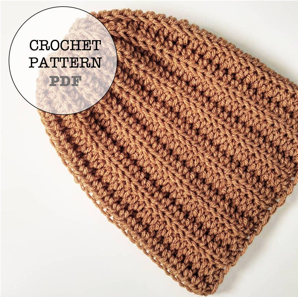 0053d7f9993 Crochet Pattern   Basic Slouch No.1 Crochet Pattern