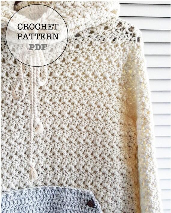 Crochet Pattern Sweater Pattern Hoodie Pattern Crochet Etsy