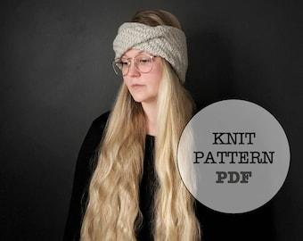 Knit Pattern / Oak Headband / Whiteowlcrochetco / Malabrigo Yarn / Knit Headband / Winter Headband / Knitting / Easy Knitting Pattern