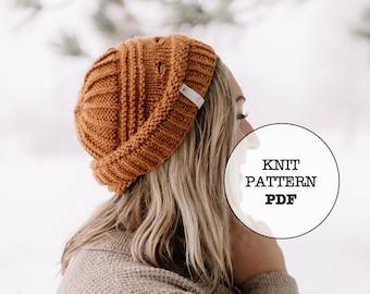 Knit Pattern / Gold Beanie / 7 Metals of Antiquity / Knit Picks Gloss DK / Whiteowlcrochetco / Hat Pattern / Beanie / Winter / Fall / Knit