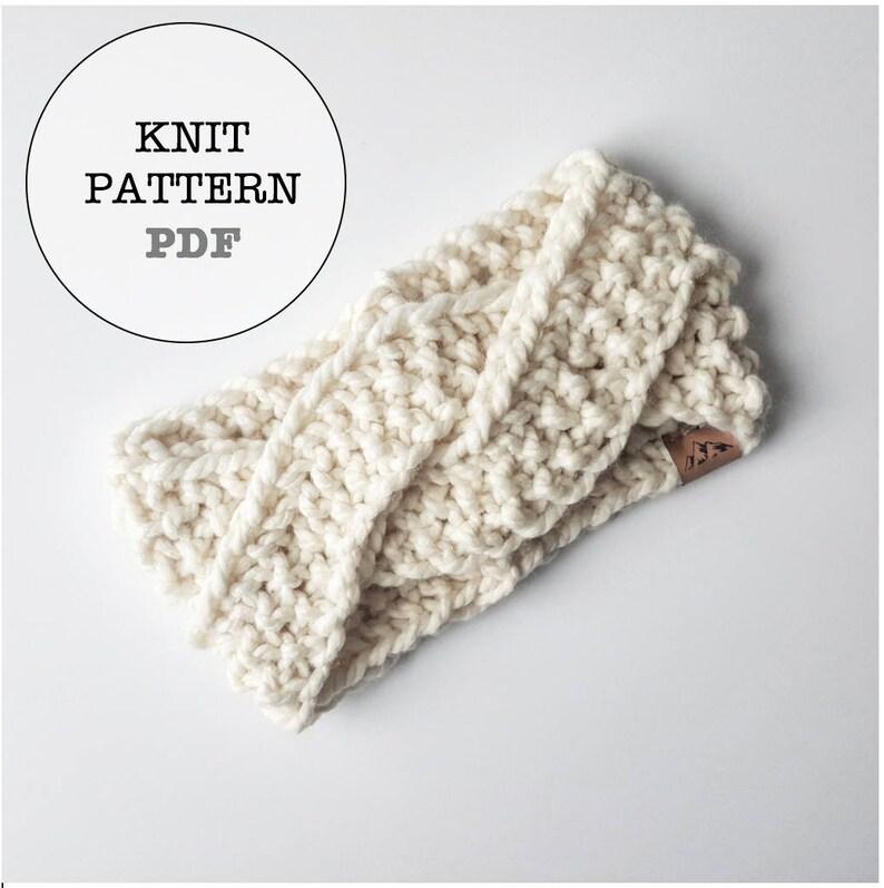 f87400848e5 Knitting Pattern   Alaskan Knot Headband Knitting Pattern